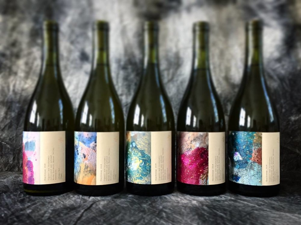 Limited Edition Artworks hand applied to small batch wines