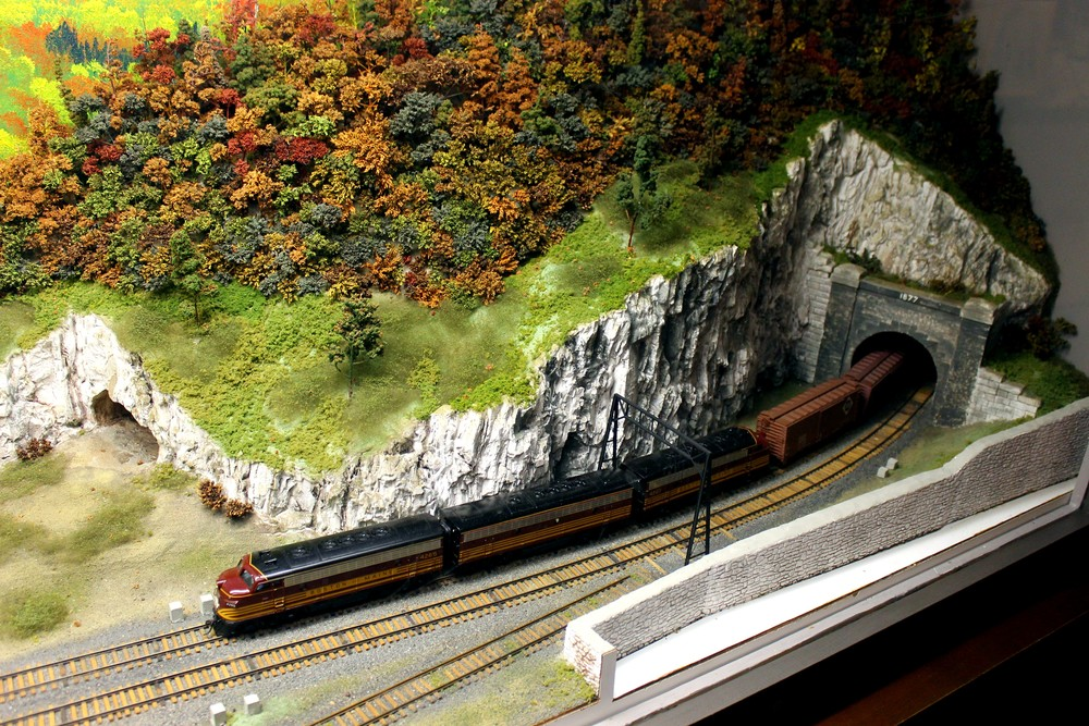 HO model of east portal of Hoosac Tunnel with test bore hole at left. Heritage State Park Museum, North Adams, Mass., June 25, 2016. Photo taken and submitted by Mal Sockol.