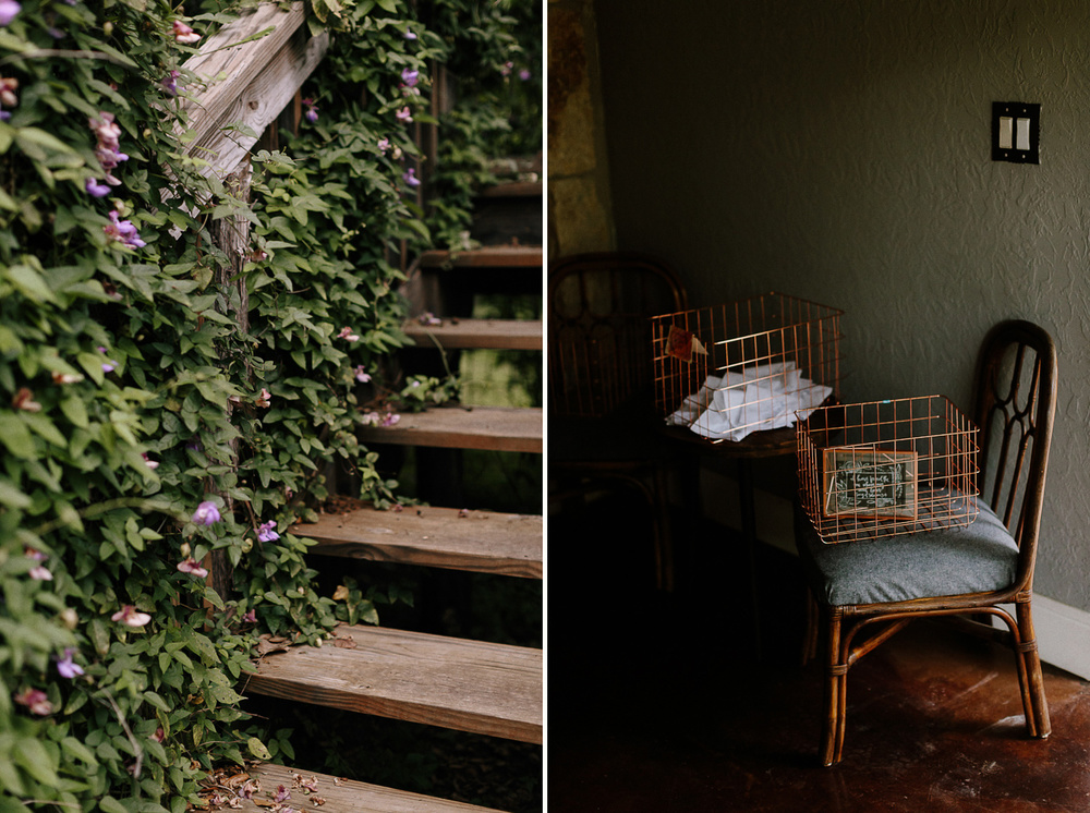 Rural Texas Backyard Wedding Stairs