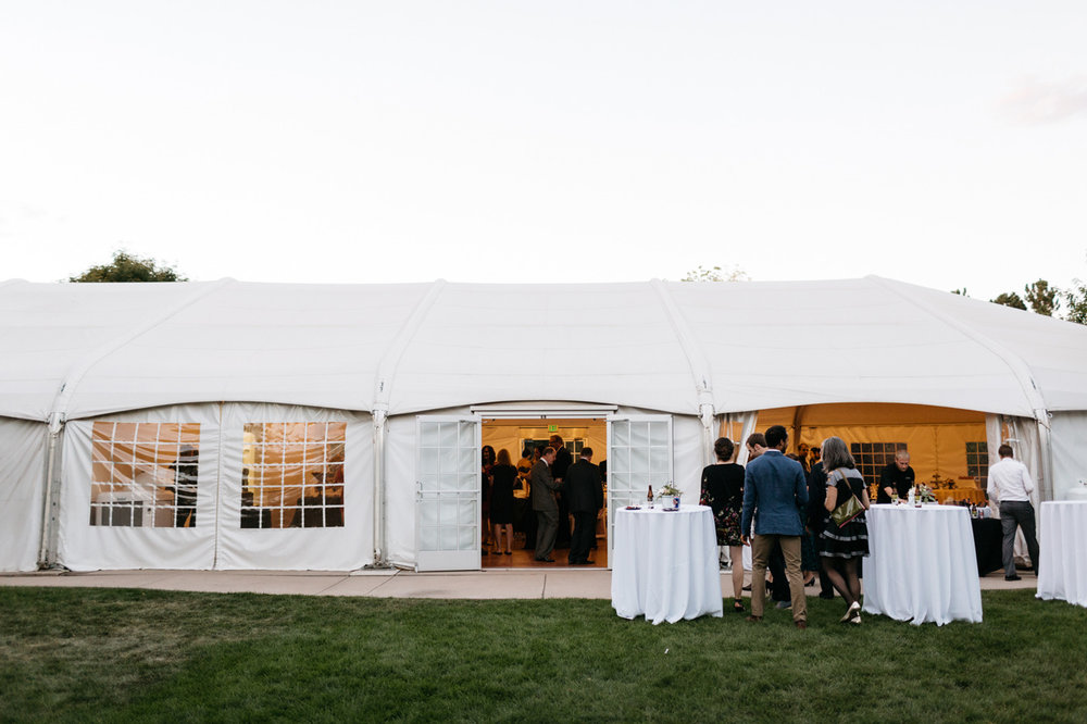 Hudson Gardens Wedding Reception Tent