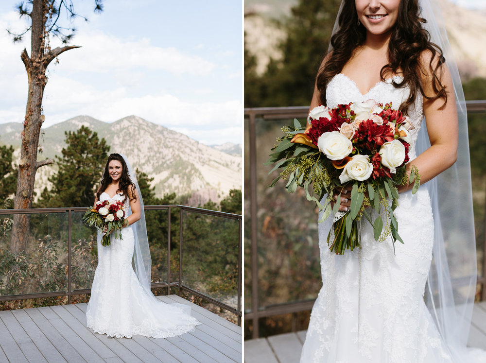 Flagstaff House Wedding Boulder Colorado Bride