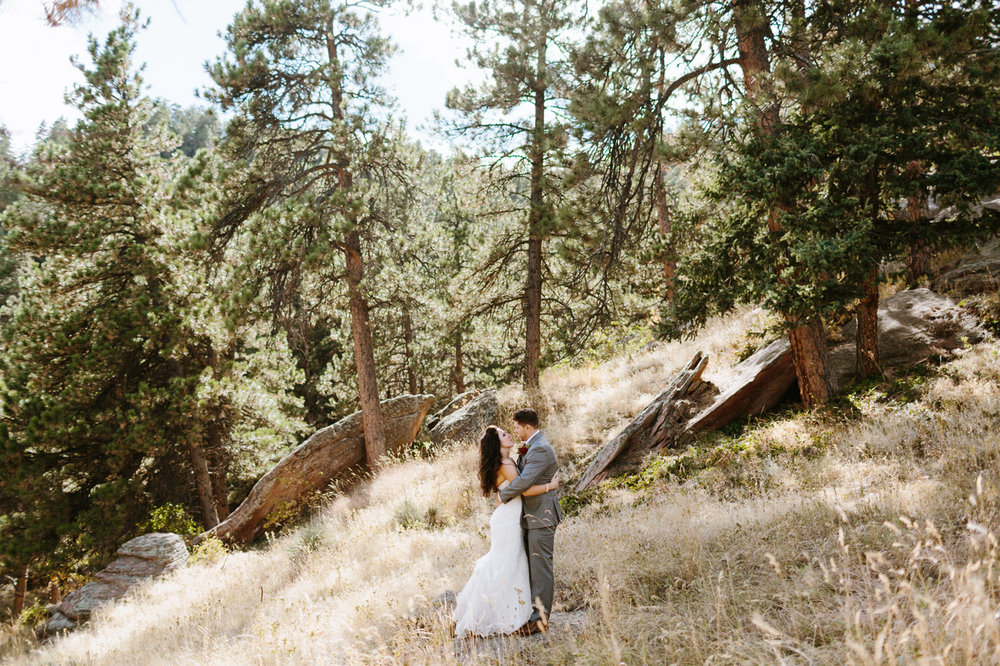 Flagstaff Road Boulder Colorado Bride Groom Mountain Wedding