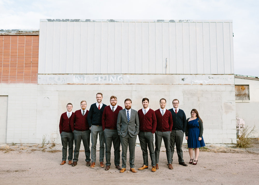 Studios at Overland Crossing Wedding Groom Groomsmen