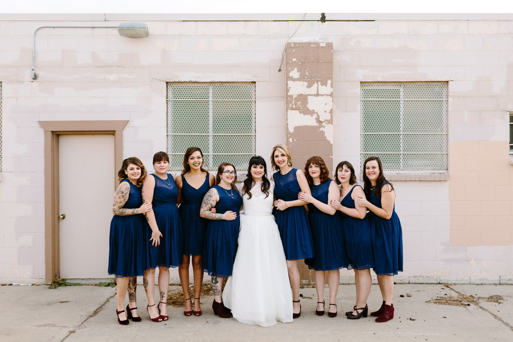 Studios at Overland Crossing Wedding Bride Bridesmaids