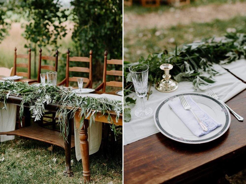 Ya Ya Farm and Orchard Wedding Reception Tablescape Details