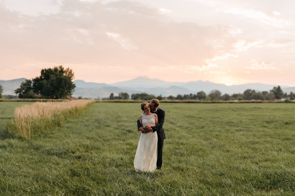 Ya Ya Farm and Orchard Wedding Photographer Bride Groom Sunset Portrait