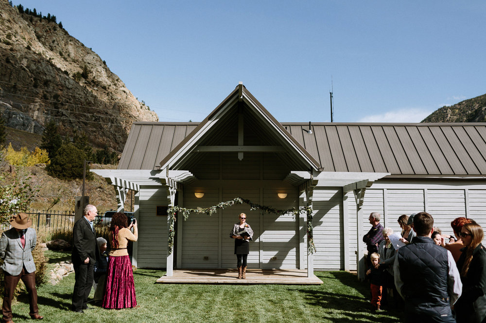 Georgetown Colorado wedding ceremony