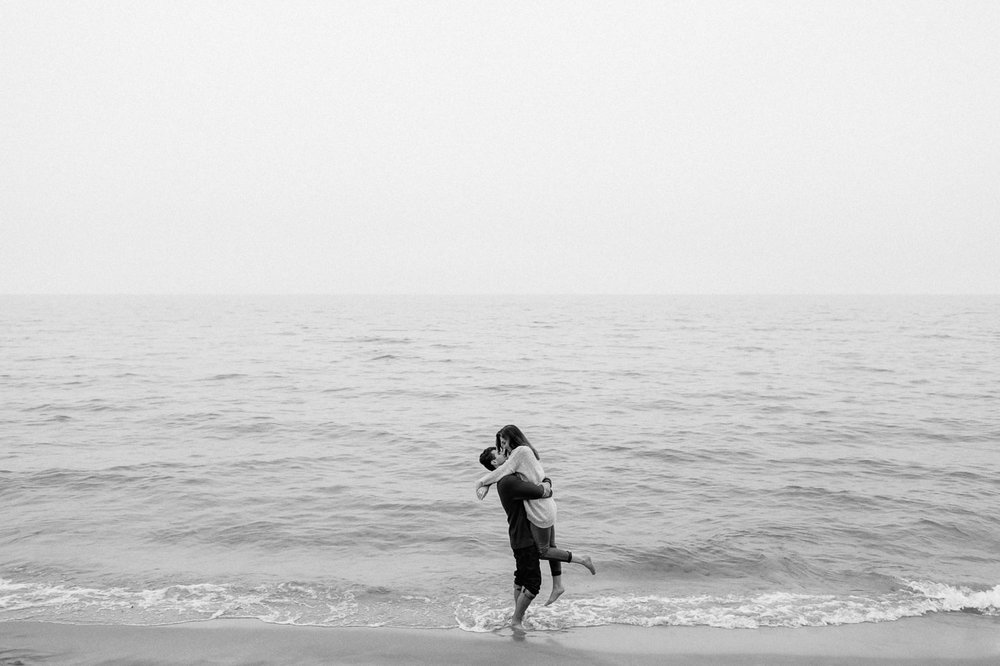 Saugatuck Dunes State Park Engagement Session Photographer