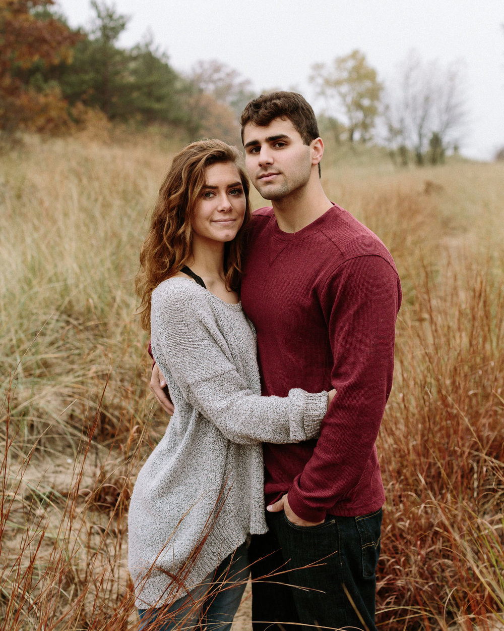 Saugatuck Dunes State Park engagement session