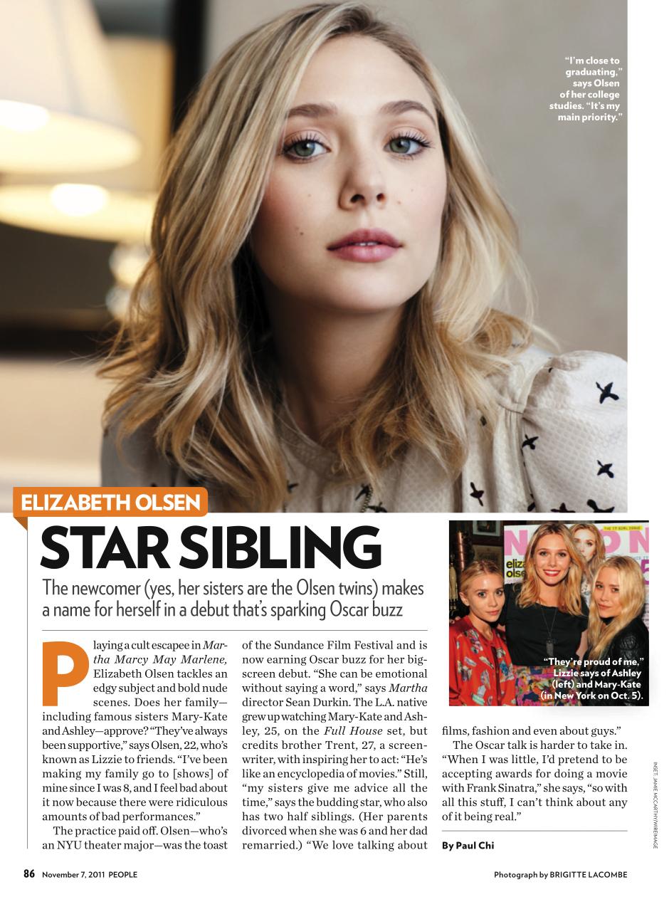 People Magazine   Elizabeth Olsen