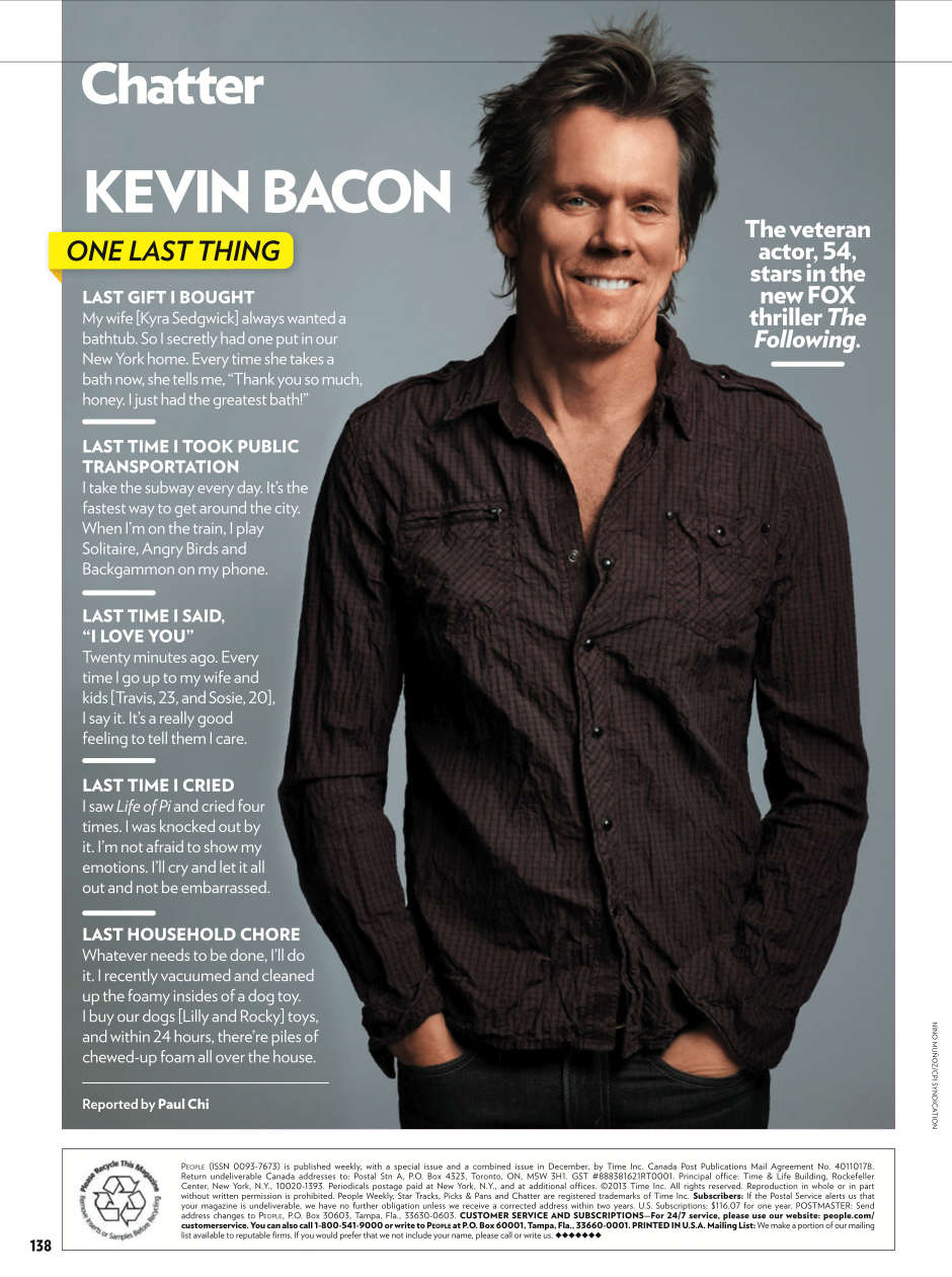 People Magazine   Kevin Bacon