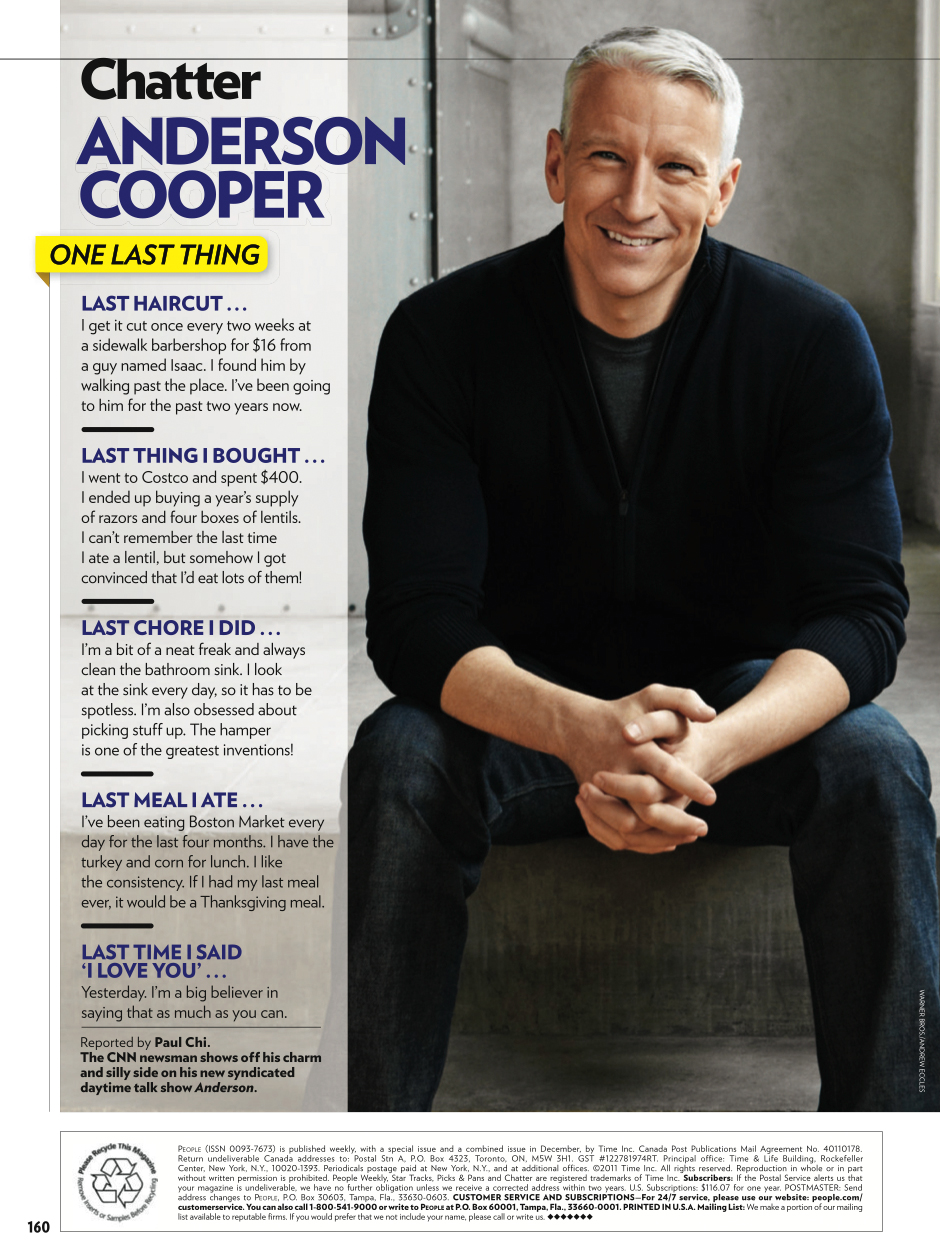 People Magazine   Anderson Cooper