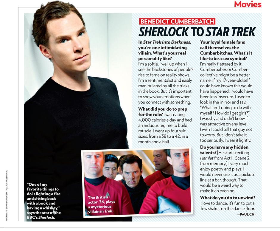 People Magazine   Benedict Cumberbatch
