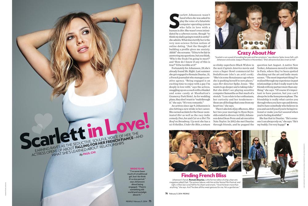 People Magazine   Scarlett Johansson