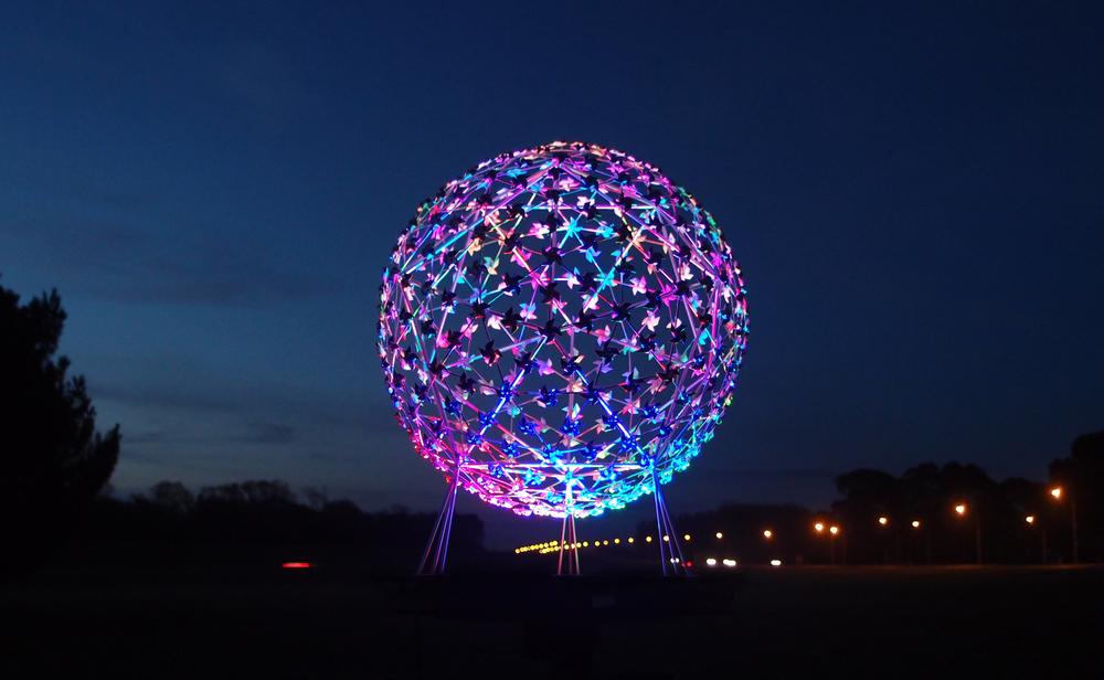 """Fanfare"" Sculpture, Northern Motorway SH1, Christchurch"
