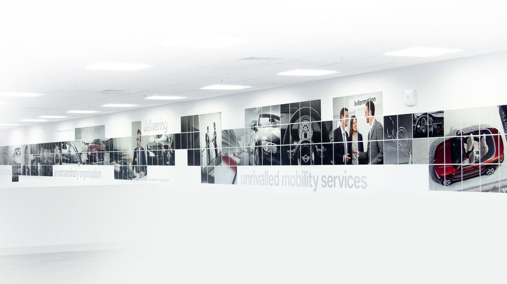 bmw finance call centre wall graphics - Wall Graphic Designs
