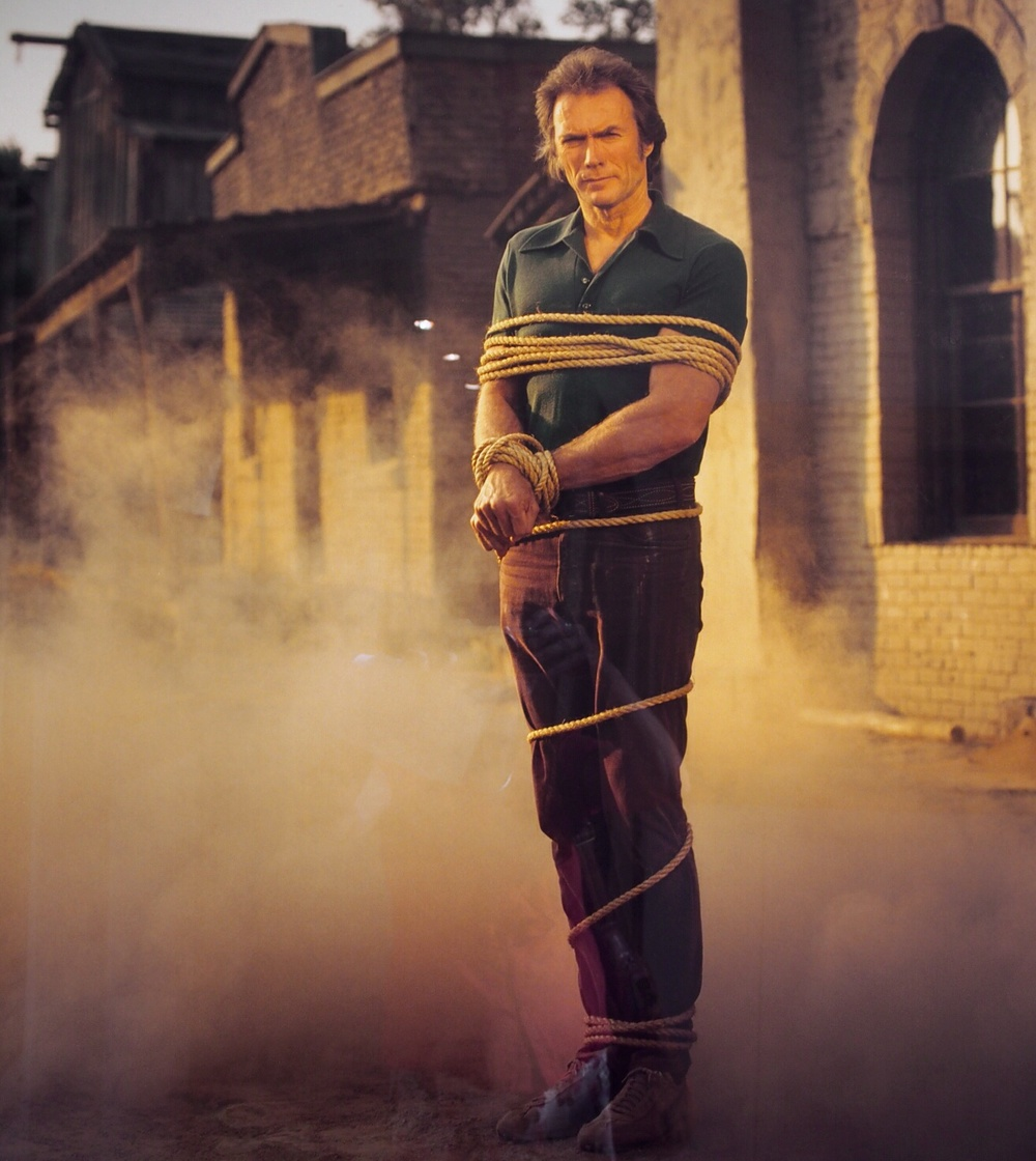 Annie Liebovitz  portrayal of Clint Eastwood. Love it!