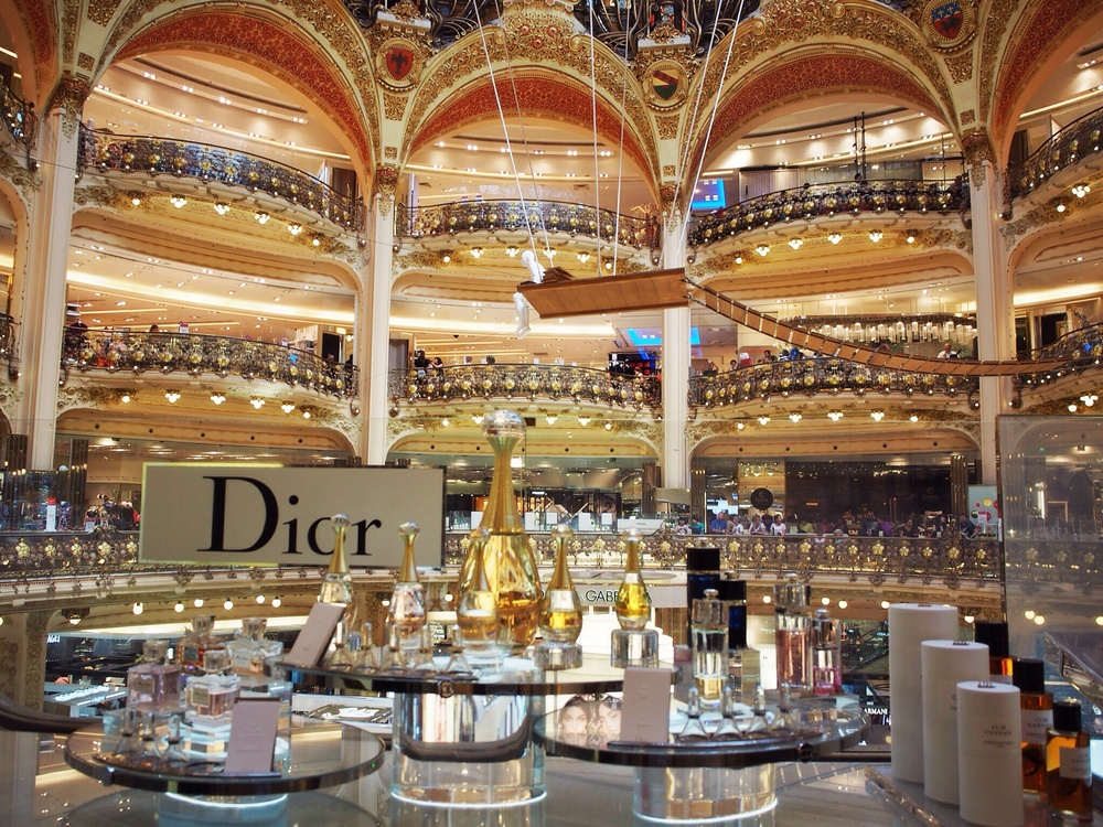 Galeries Lafayette, ten floors of Mecca shopping.