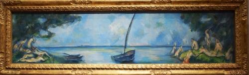 Paul Cezanne La Barque et les Baigneurs