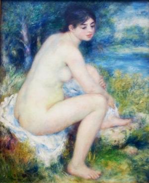Pierre-Auguste Renoir, Femme Nue Dans un Paysage