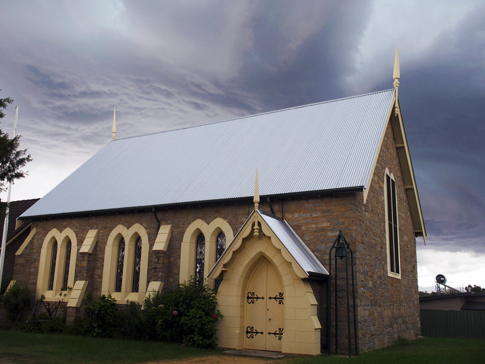 Ominous Hail storm brewing yonder at Moruya
