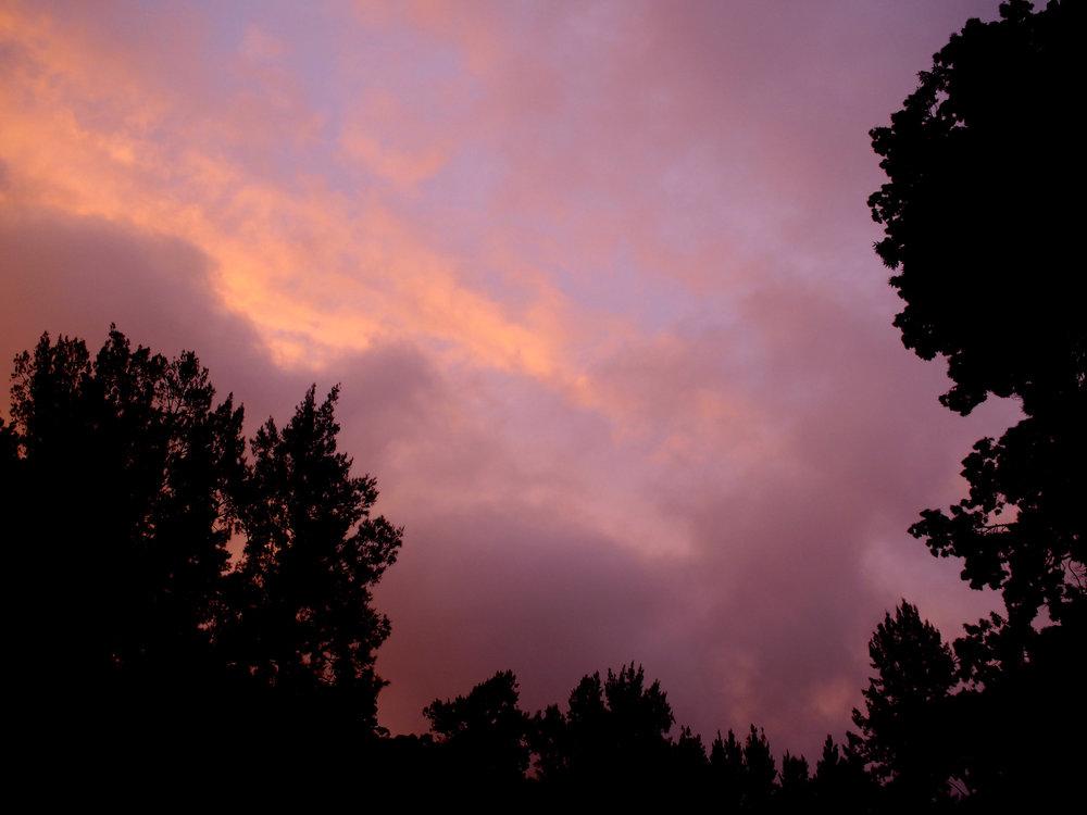 sunset over Wombeyan