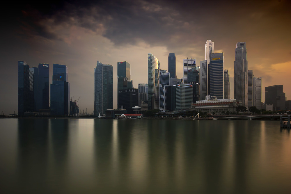 The Golden Singapore Skyline