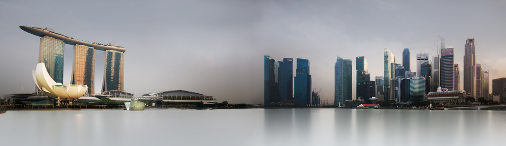 Singapore Skyline Panorama - Marina Bay Sands, Central Business District