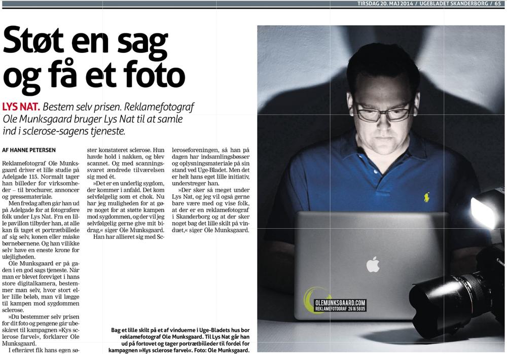 Avis Arktikel fra Ugebladet, Skanderborg.