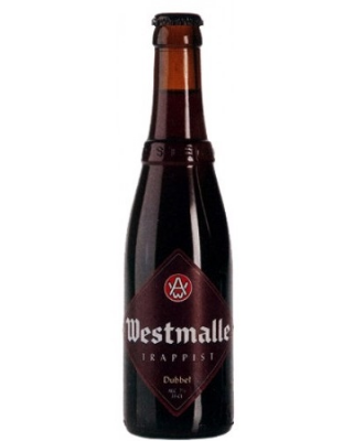 Westmalle Dubbel    Dark, reddish-brown Trappist beer with a secondary fermentation in the bottle. The flavour is rich and complex, with notes of herbs and fruits with a fresh-bitter finish.   7.0%ABV, Trappist Dark Ale