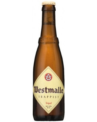 Westmalle Tripel    A clear, golden yellow Trappist beer that undergoes a secondary fermentation in the bottle. It is a complex beer with a fruity aroma and a nice nuanced hop scent. It is soft and creamy in the mouth, with a bitter touch carried by the fruity aroma.   9.5%ABV, Trappist Tripel