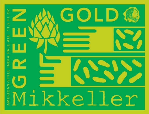 Mikkeller Green Gold Green gold pours a hazy dark amber, possibly due to the unusual addition of oats to the brew. This creates a very pleasantly bitter taste with a lovely peachy caramel sweetness and ripe pine finish. 7.0%ABV, IPA