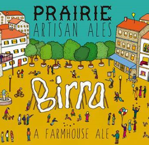 Prairie Birra Birra is a light, sessionable farmhouse ale. It is crisp with notes of black pepper and orange. 4.5%ABV, Saison