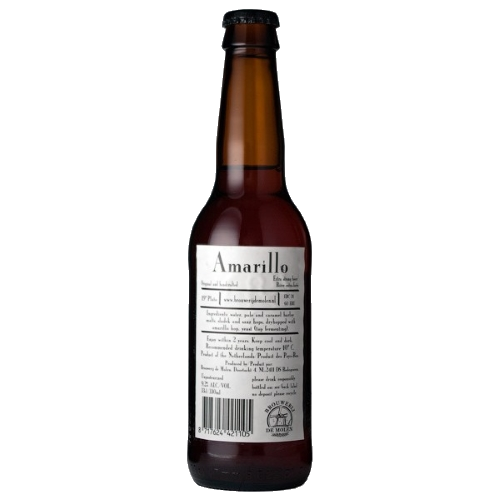 De Molen Amarillo This non-pasteurised beer features strong hoppy, malty and fruity notes of orange and grapefruit. Its bitterness is well-balanced and long-lasting in the mouth. 9.2%ABV, IPA