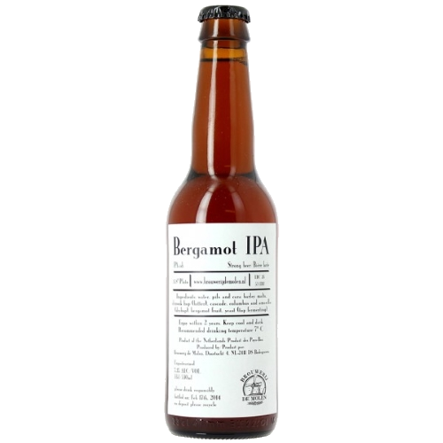 De Molen Bergamot IPA Pours Amber with a cream coloured head. Aroma of sweet malt, pine and Bergamot. 7.7%ABV, IPA