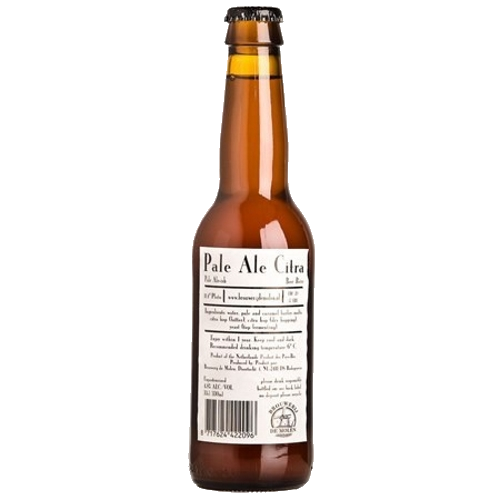 De Molen Pale Ale Citra Hazy yellow with a citrus, grassy flavour and thin lacy head. De Molen's take on a regular pale ale and it knocks most other players out of the park. This is a delightful session ale from one of the best breweries in the world. 4.8%ABV, Pale Ale