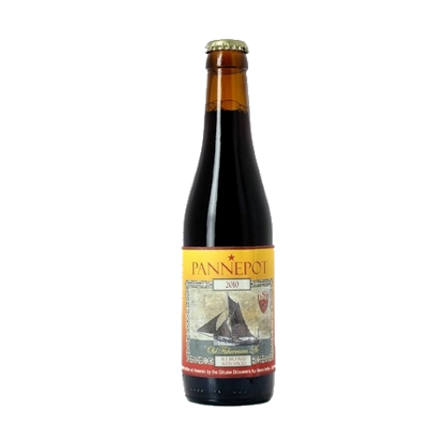 De Struise Pannepot 'Pannepots,' or fishing boats, this unique dark ale pays tribute to these hardy sailors and their rich, flavorful brew.  10%ABV, Belgain Strong Ale