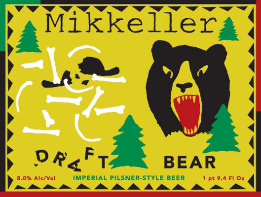 Mikkeller Draft Bear Draft Bear is Mikkellers interpretation of a 'pilsner', heavyweight-style. With its powerful hop notes, high alcohol content and lovely golden appearance, the only reference to the pilsner style is the clean taste of the lager yeast. 8.0%ABV, Imperial Pils