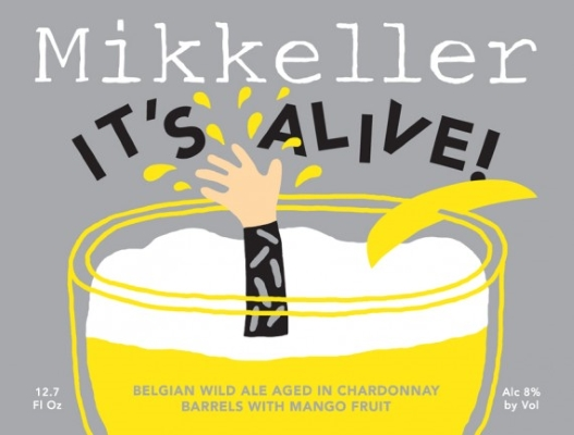 Mikkeller It's Alive! Chardonnay Mango    Mikkeller It's Alive mango has caramel malts that make the beer seem a bit sweeter and heavier than it really is. Its boisterous carbonation lifts the beer from the mouth and makes drinkability decidedly easy.   8.0%ABV, Wild Ale with Mango aged in Chardonnay Barrels
