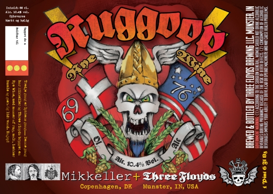Mikkeller/Three Floyds Ruggoop This time, Mikkeller and Three Floyds brewed one Rye Wine, with lots of rye, malts, delicious hops and yeast. And a little water. 9.5%ABV, Rye Wine