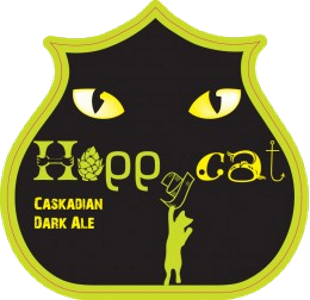 Birra del Borgo Hoppycat A brown, coffee colored Dark IPA with toasted malts and a peculiar North American hop.  5.8%ABV, Dark IPA