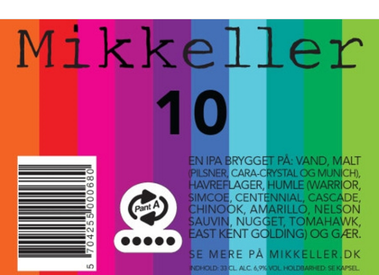 Mikkeller 10 Brewed with 10 different kind of hops to form this unique IPA. Aromas of grapefruit and peaches with a strong bitter finish. 6.9%ABV, IPA