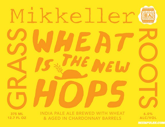 Mikkeller Wheat is the New Hops Brewed at Hill Farmstead Brewery, this hoppy American wheat ale is fermented with Brettanomyces and dry hopped with citrusy hops. 6.0%ABV, Wheat IPA