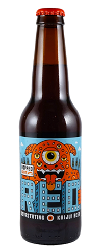 KAIJU! Hopped Out Red   Tropical, piney aromas, layered over a complex, biscuity-toffee malt profile.   6.5%ABV, Red Ale