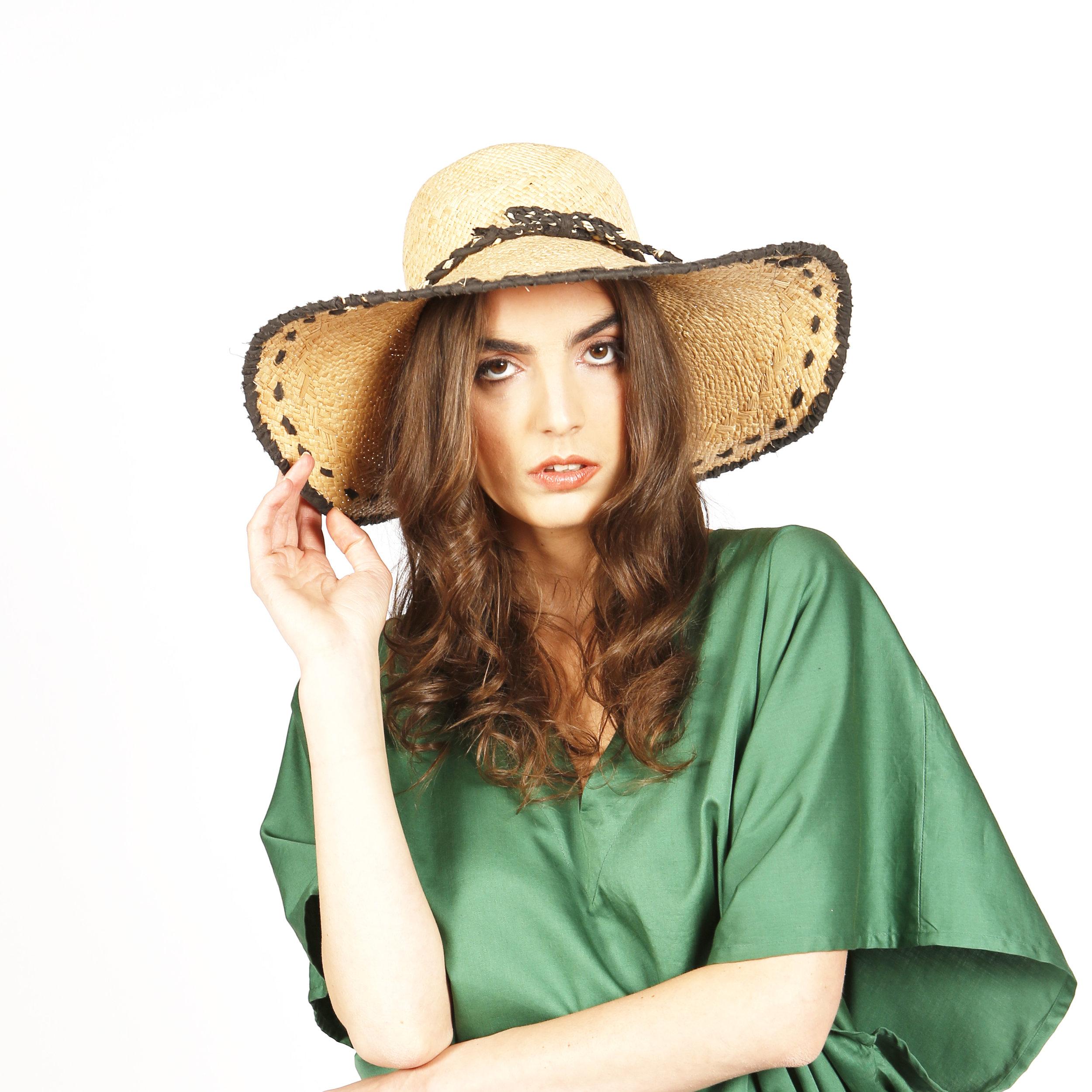 0354461c2a Kate hat — Maraina London- luxury resortwear — Luxury Beachwear ...