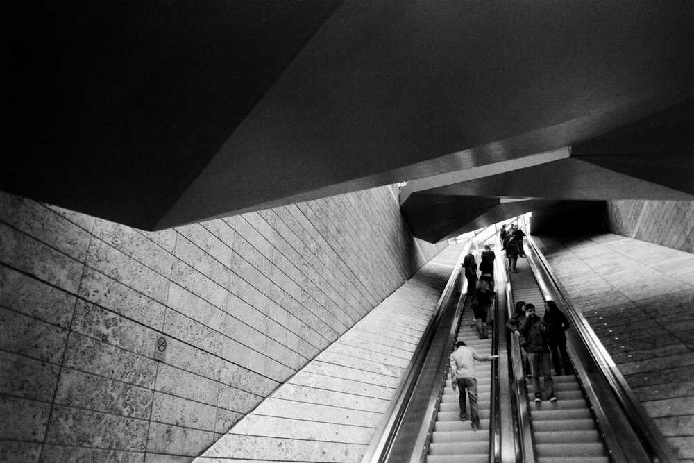 Early in the year I shot a roll of black and white film and this was one of my favourites. It was taken under a  set of stairs in the Liverpool ONE shopping centre. This ended up being exhibited in Cologne alongside some other B&W film photos of Liverpool.