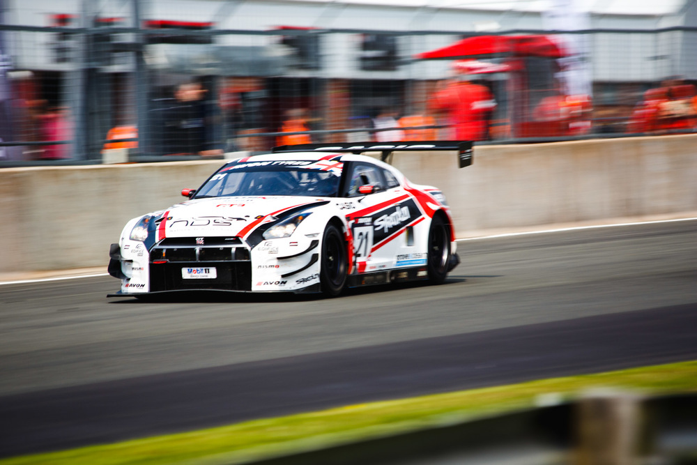This was taken in April during the British GT event at the Oulton Park race circuit. Getting shots like this can be tricky and requires practice in tracking the car as it moves. Sir Chris Hoy also competed in this race in a similar looking car.