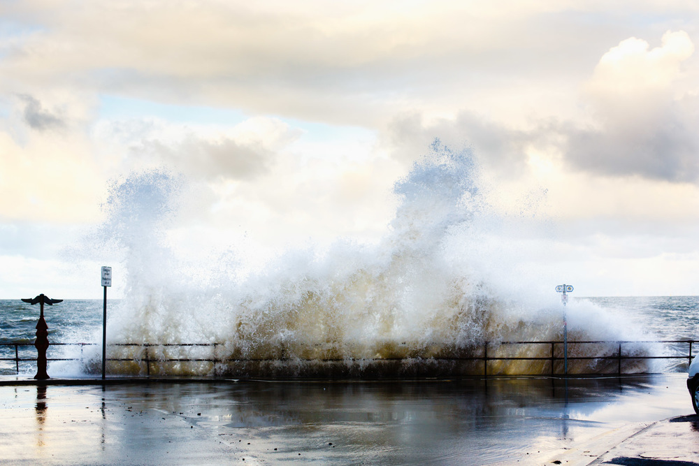 This was taken a few days ago when I was at my parents' place for Christmas and is my last favourite of the year. Hannah and I decided to go for a walk along the front of Old Colwyn on a windy day. As a result the water was choppy and waves were crashing against the walls.