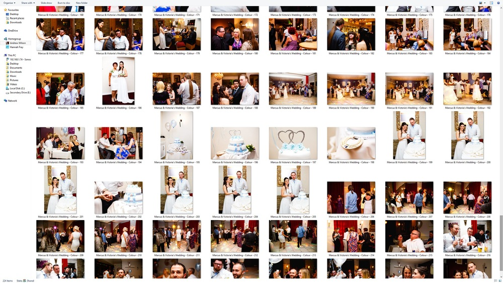 Photos renamed and reordered. Cake photos placed together.