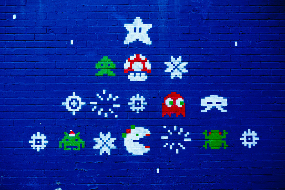 Retro-gaming grafitti.